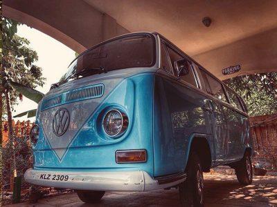 Vintage rental combi van
